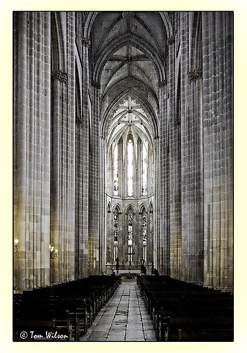 photoblog image Batalha - nave of the monastery church