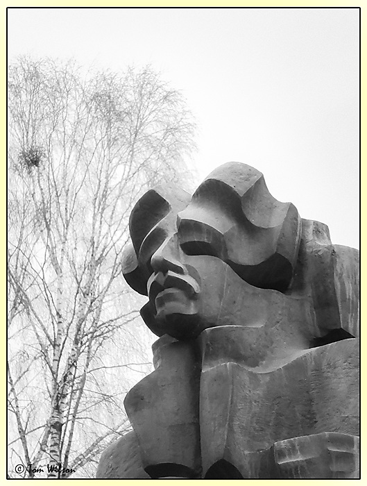 photoblog image Head of Ciurlionis