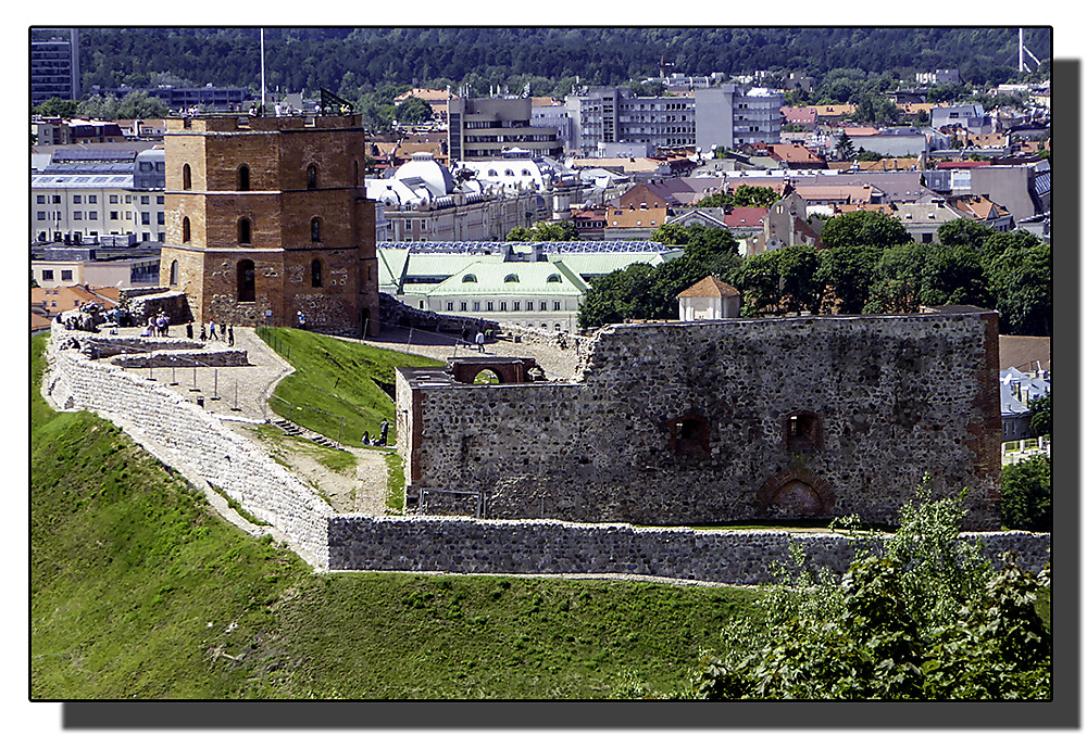 photoblog image Vilnius, Castle Hill from the Hill of Three Crosses