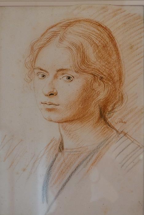 photoblog image Burton Agnes - Augustus John drawing